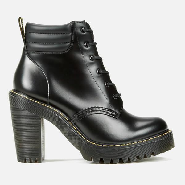 77f5a48378a Dr. Martens Women s Seirene Persephone 6-Eye Padded Collar Heeled Boots -  Black
