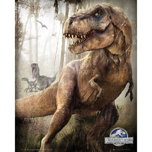 Jurassic World T-Rex - 16 x 20 Inches Mini Poster