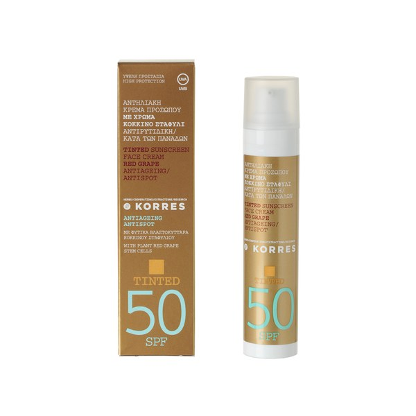 Korres Tinted Red Grape Sunscreen SPF50 (50ml)