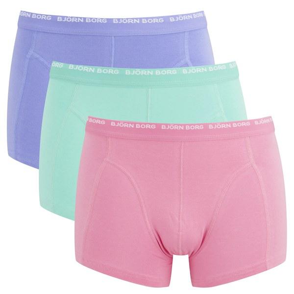 bjorn borg men 39 s 3 pack boxer shorts sachet pink mens underwear. Black Bedroom Furniture Sets. Home Design Ideas