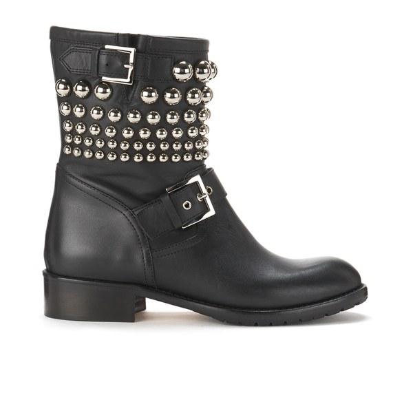 REDValentino Women's Studded Biker Boots - Black