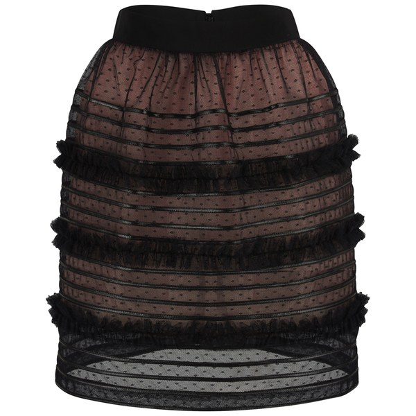 REDValentino Women's Lace Skirt - Black