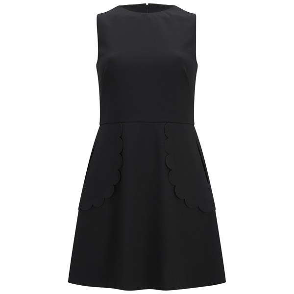 REDValentino Women's Scalloped Dress - Black