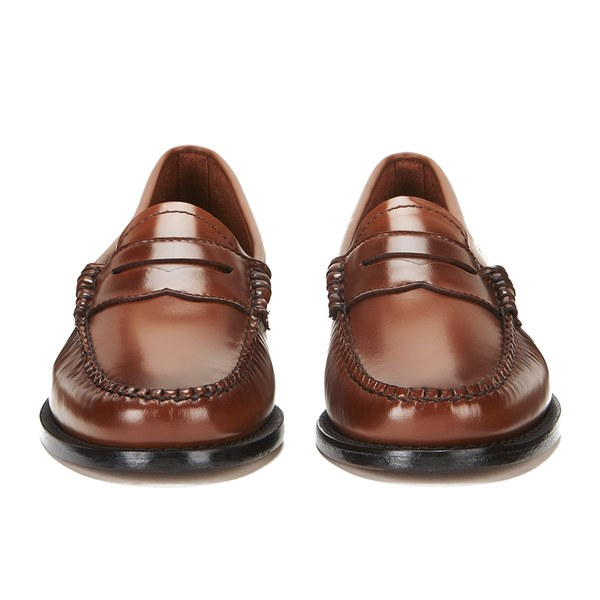Bass Weejuns Women's Penny Leather Loafers - Mid Brown ...