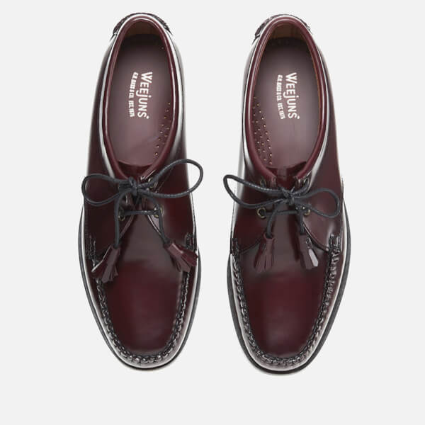 6db44da96fb Bass Weejuns Men s Lace Up Leather Loafers - Wine  Image 2