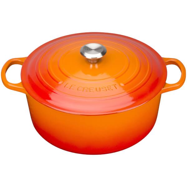 Le Creuset Signature Cast Iron Round Cerole Dish 20cm Volcanic Image 1