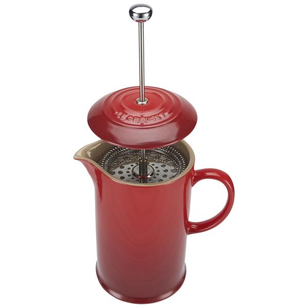 Le Creuset Stoneware Cafetiere Coffee Press Cerise