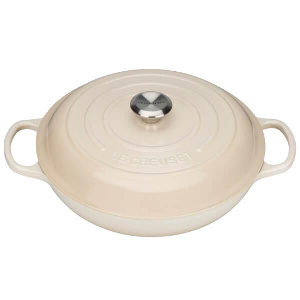 Le Creuset Signature Cast Iron Shallow Casserole Dish - 26cm - Almond