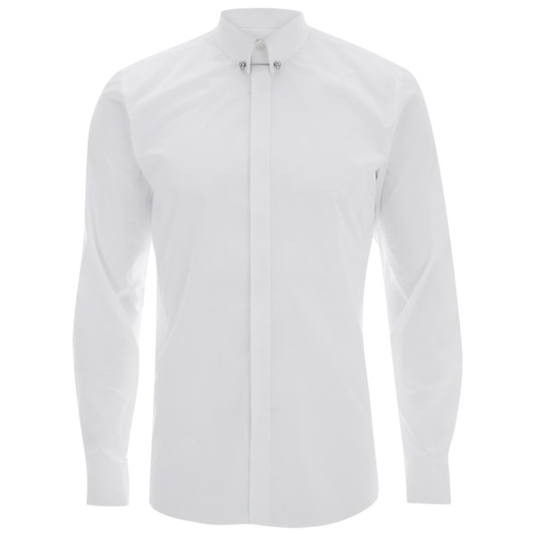 Hugo Men 39 S Enzel Long Sleeve Shirt With Skull Collar Bar