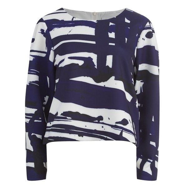 C/MEO COLLECTIVE Women's City Lights Jumper - Blue Paint Print