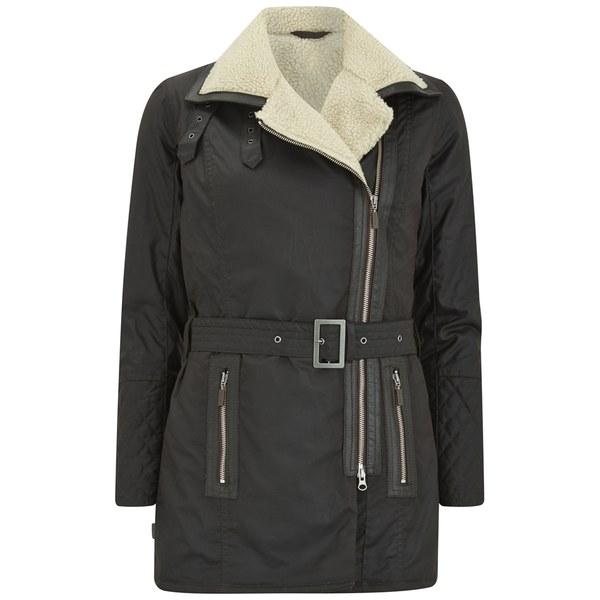 Barbour Women's Aspley Aysmmetric Wax Jacket - Rustic