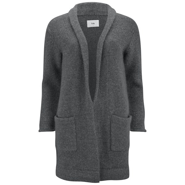 Folk Women's Robe Cardigan - Charcoal
