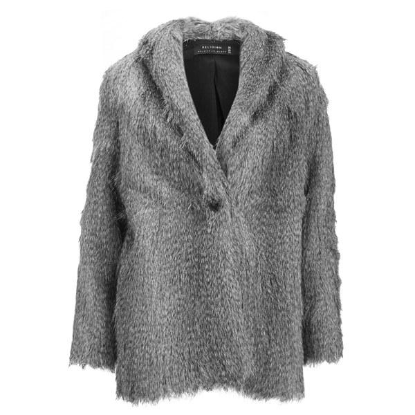Religion Women's Ecstacy Fur Jacket - Grey