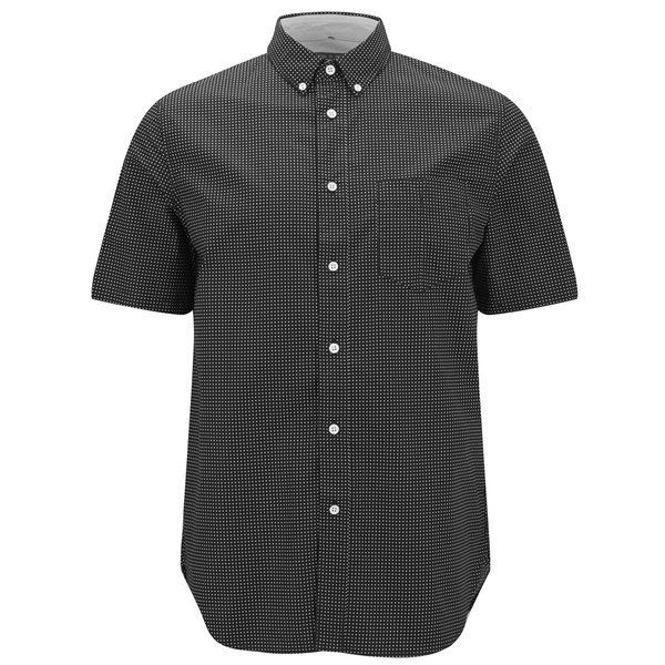rag & bone Men's Short Sleeve Button Down Shirt - Black