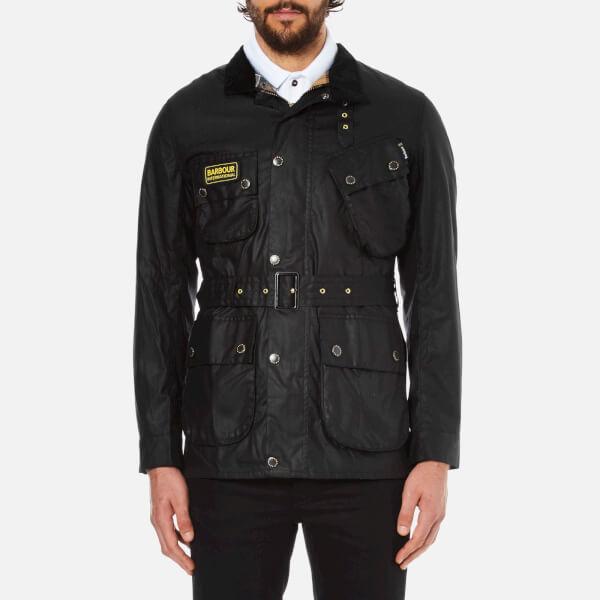 Barbour International Men's Slim International Wax Jacket - Black