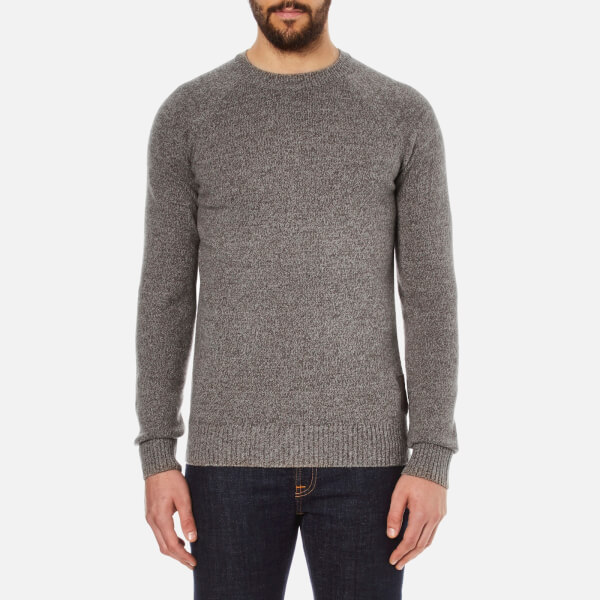 Barbour Heritage Men's Staple Crew Knitted Jumper - Sandstone