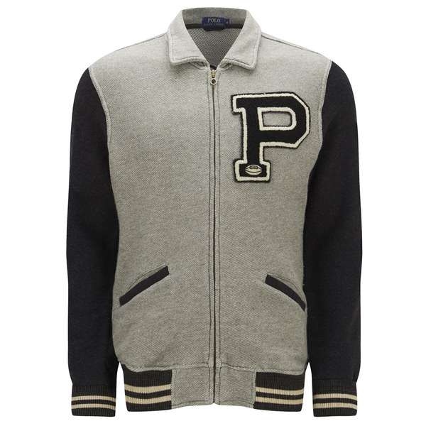 Polo Ralph Lauren Men's Baseball Jacket - Regent Heather - Free UK ...
