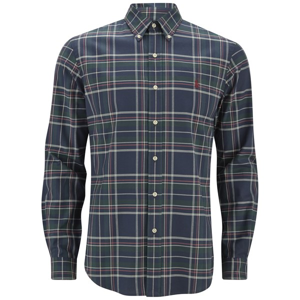 Polo Ralph Lauren Men's Button Down Checked Shirt - Navy/Hunter ...