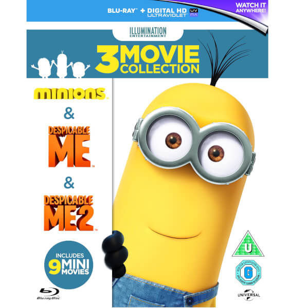Collection Minions et Moi, Moche et Méchant 1 & 2 -Blu-ray