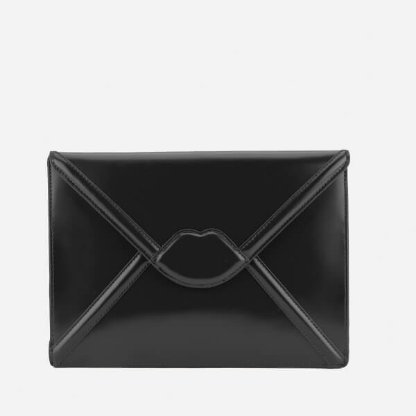 Lulu Guinness Women's Catherine Large Lips Envelope Clutch Bag - Black