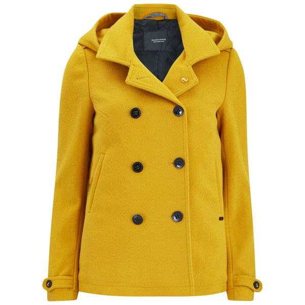 Maison Scotch Women's Wool Peacoat - Yellow