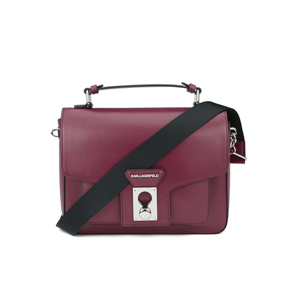 Karl Lagerfeld Women's K/Pin Closure Satchel - Bordeaux