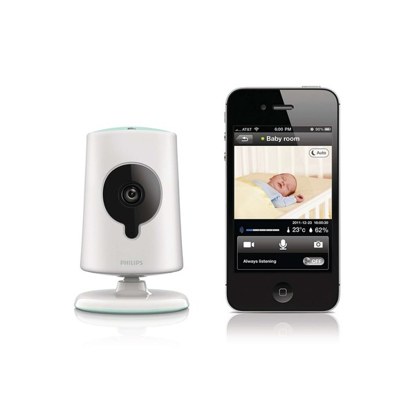 philips b120e 10 in sight wireless hd baby monitor white iwoot. Black Bedroom Furniture Sets. Home Design Ideas