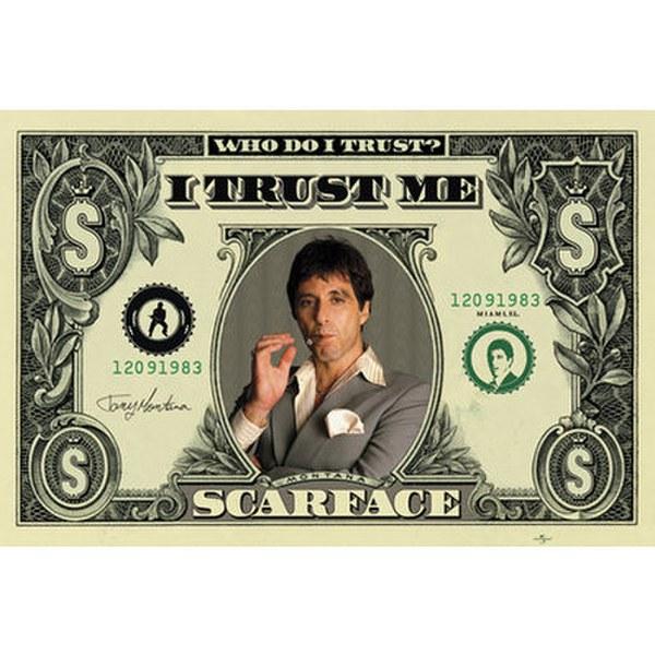 Scarface Dollar Bill - 24 x 36 Inches Maxi Poster