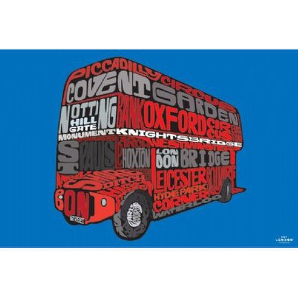 Visit London Routemaster - 24 x 36 Inches Maxi Poster