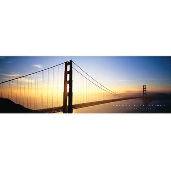 San Francisco Golden Gate Bridge - 12 x 36 Inches Midi Poster