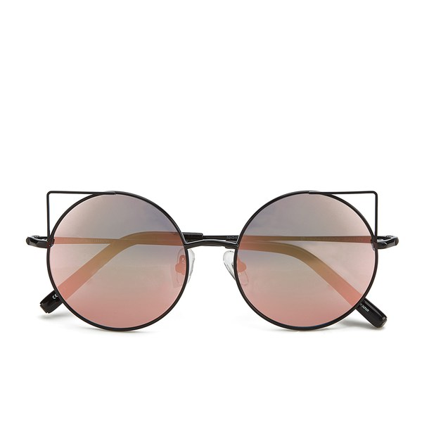 Matthew Williamson Women's Peach Gold Lens Sunglasses - Shiny Black