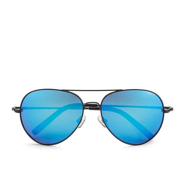 Matthew Williamson Women's Ocean Lens Aviator Sunglasses - Shiny Black