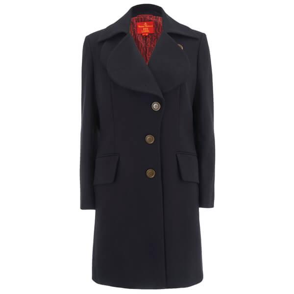 Vivienne Westwood Red Label Women's Classic Melton Love Coat - Navy: Image 1