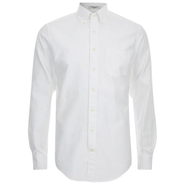 Gant diamond g men 39 s oxford long sleeve shirt white mens for White oxford shirt mens