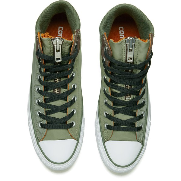 6d7d5e6c7f4d Converse Men s Chuck Taylor All Star MA-1 Zip Hi-Top Trainers - Olive