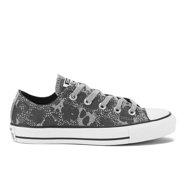 f335cca93995ea Converse Women s Chuck Taylor All Star Animal Material OX Trainers -  Dolphin Black White