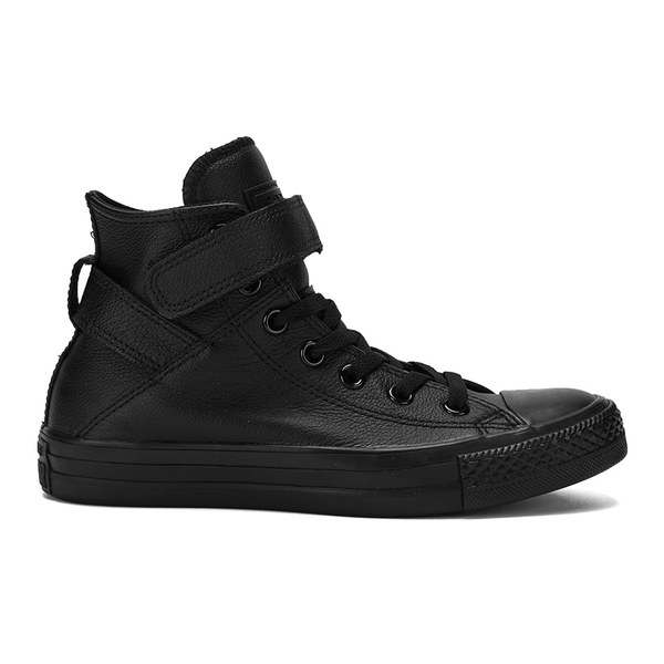 Converse Womens Chuck Taylor All Star Brea Leather HiTop Trainers  Black Image