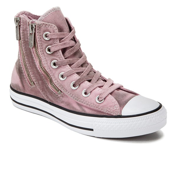 27d2135568c6 Converse Women s Chuck Taylor All Star Dual Zip Wash Hi-Top Trainers - Pink  Freeze