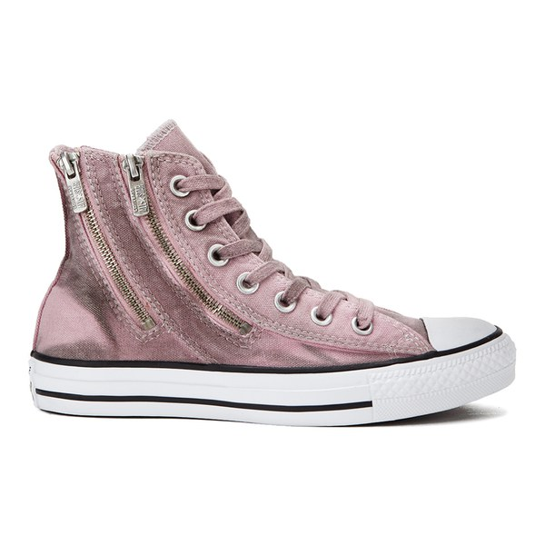 Converse Women's Chuck Taylor All Star Dual Zip Wash Hi-Top Trainers - Pink  Freeze