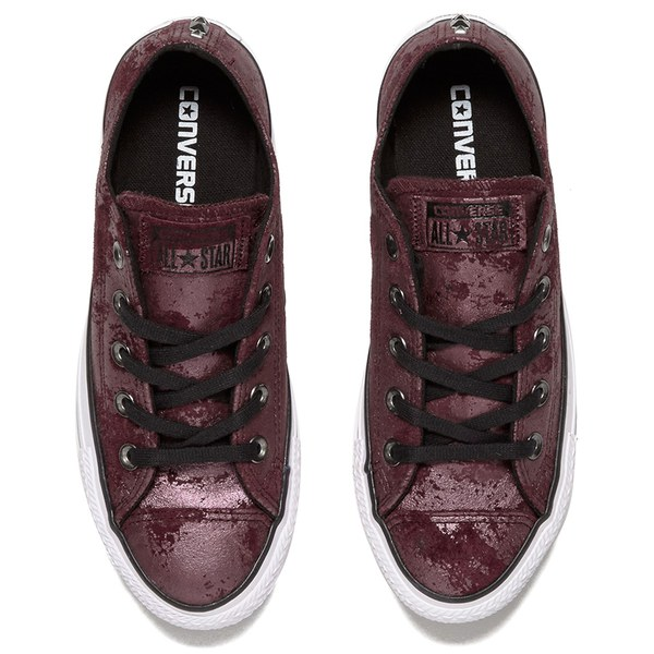 88275bfd43f1 Converse Women s Chuck Taylor All Star Hardware OX Trainers - Deep Bordeaux  Black White