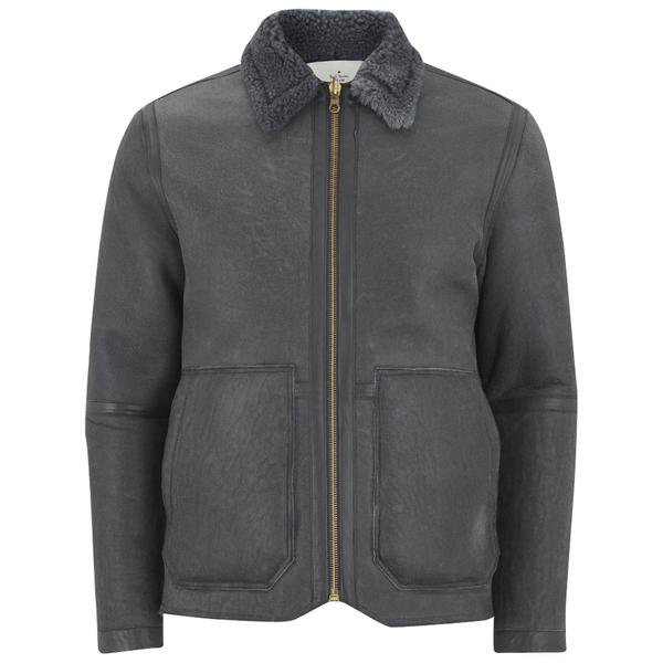 Paul Smith Red Ear Men's Reversible Shearling Donkey Jacket - Elephant Grey