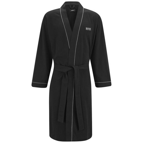 BOSS Hugo Boss Men\'s Cotton Dressing Gown - Black - Free UK Delivery ...