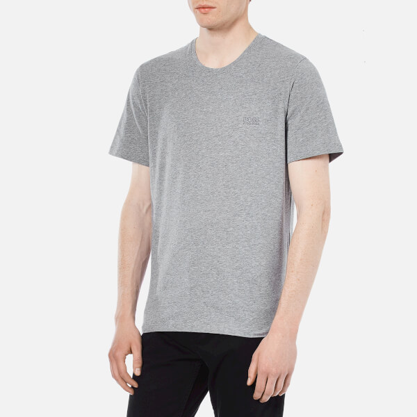 c71613917 BOSS Hugo Boss Men s Crew Neck Small Logo T-Shirt - Grey  Image 2