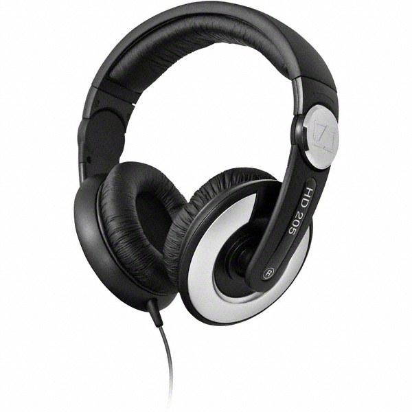 Sennheiser HD 205-II Over Ear Headphones - Black/Silver
