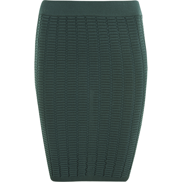 Y.A.S. Womens Nora Knitted Skirt Green Gables - Skirts