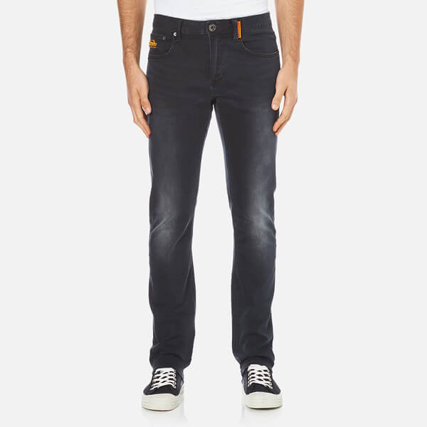 083059d6b70 Superdry Men s Corporal Slim Denim Jeans - Dusted Black Blue Mens ...