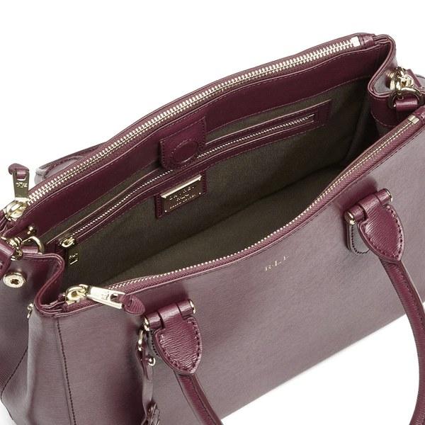 Lauren Ralph Lauren Women s Newbury Double Zip Shopper Bag - Rosewood   Image 4 025860b07c168