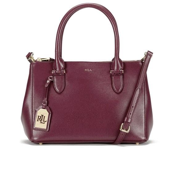 Lauren Ralph Lauren Women s Newbury Double Zip Shopper Bag - Rosewood   Image 1 ff7bd43db3772