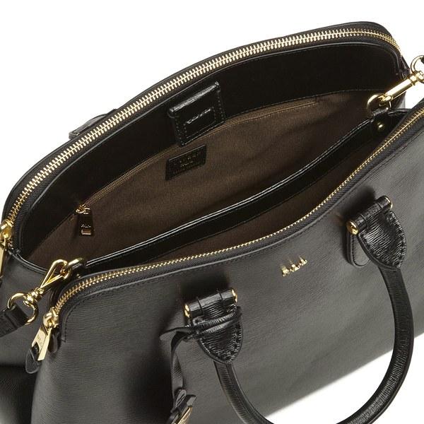 ... coupon code lauren ralph lauren womens newbury double zip dome tote bag  black image 4 c40f7 479d17540ef3d