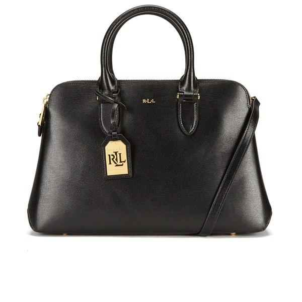 Lauren Ralph Lauren Women s Newbury Double Zip Dome Tote Bag - Black  Image  1 306691e2d1